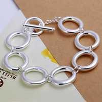 Free Shipping Wholesale 925 Sterling Silver Bracelets & Bangles,925 Silver Fashion Jewelry,Seven O Bracelet SMTH147