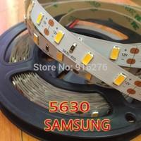 Original SMD 5630 LED strip light SAMSUNG 5M DC12V 300leds Non-waterproof led tape Warm/natural/cool/pure white
