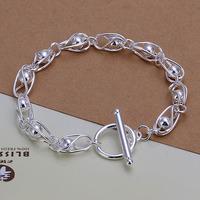 Free Shipping Wholesale 925 Sterling Silver Bracelets & Bangles,925 Silver Fashion Jewelry,light beads TO Bracelet SMTH294