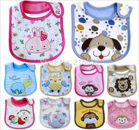 5pcs/lot cotton Baby bibs Infant embroidered saliva towels carter's Burp Cloths funny Baby Waterproof bib Carter's wear