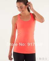 spring 2014  Discount  lululemon Cool Racerback tank,hot Sell lulu lemon Yoga tops /tanks for GirlsPlus Size yoga  women 's vest