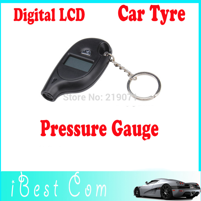 Mini Keychain Digital LCD Tire car Tyre Air Pressure Gauge For Car Auto Motorcycle wholesale 1pcs Free Shipping wholes kids toy(China (Mainland))