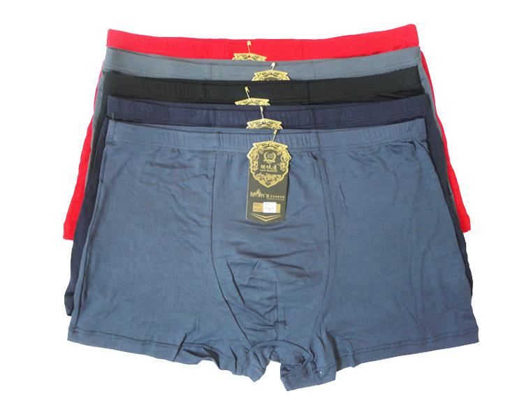 Fasion High Quality Bamboo Underwear Men XL XXL XXXL XXXXL 5XL Size Men Boxer Underwear Plus Size Flat Feet Panties(China (Mainland))