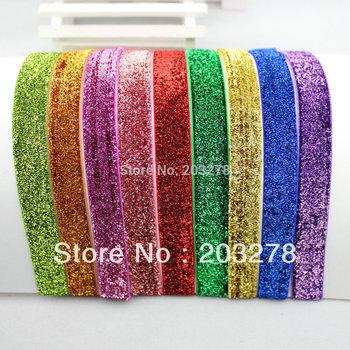 Glitter Elastic Headbands Perfect for Newborn Baby Adult Ribbon Headwrap 100pcs/lot