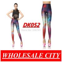 2013 Summer Hot  New Style Women Galaxy Rainbow Skinny Pants Print Leggings For Women Polyester