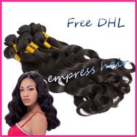 Free DHL! 12-30inches Brazilian Virgin Hair Body Wave 6pcs lot 40g/pc