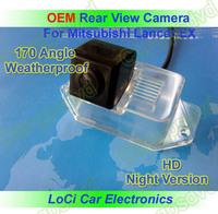 Free shipping! HD Rear View Mitsubishi Lancer EX 2006- 2010 CCD night vision car reverse camera auto license plate light camera