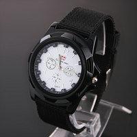 2014 New Sale10pcs/lot Fabric Strap Sports Watches Unisex  Analog Quartz Watch Alloy Dial Wristwatches Dropship