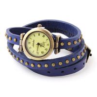 Hot Sale Roman Fashion Wristwatches Analog Quartz Watch Leather Strap Rivet Vintage Bracelet Watches 10pcs/lot Discount