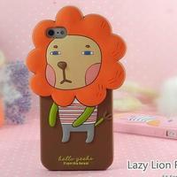Honey Moca Momo Teo Coni Rabbit Monkey Fox Lion Cat Owl Girl Silicone Romane Case for Apple Iphone 5  1pcs/lot