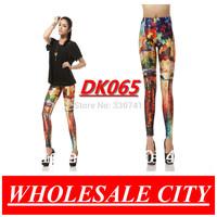 Fashion Legging for Lady's Tropical Ink Printing Stretch Skinny  Galaxy  Leggings Slim Elastic