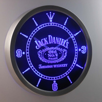 nc0477 Jack Daniels Neon Sign LED Wall Clock (a048-b design)