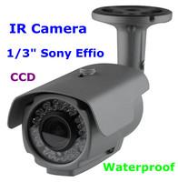 960H 700TVL SONY CCD Enhanced Effio-E Chips 24 IR night vision  CCTV Outdoor Camera With Bracket Free Shipping