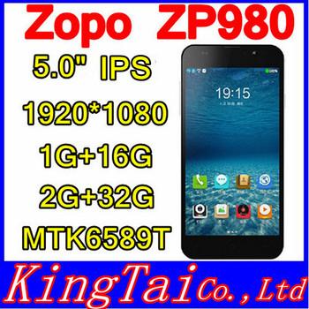 ZOPO ZP980+ MTK6592 Octa Core Mobile Phone 1GB RAM 16GB ROM 1920*1080p Gorilla Glass Android 4.2 GPS WCDMA Dual sim 14MP Camera