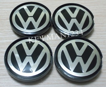 4PCS 55mm Wheel Center Caps Hub Cap for VW Polo Golf Passat Bora Bettle Jetta CC