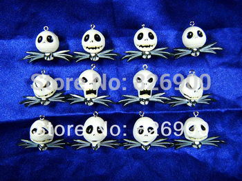 12 pieces Nightmare Before Christmas Charm Pendant Figurine DIY Accessories ANB974 Wholesale