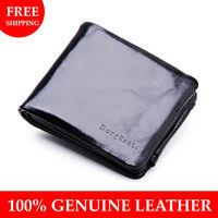 Fee shipping, High quality men's wallet card holder for men fashion designer man purse genuine leahter wholesale