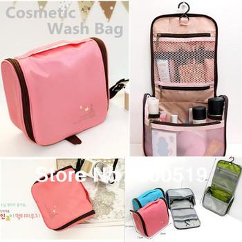 GB051 Korea Style High Quality Waterproof Cosmetic bag big capacity toilet kit / traveling wash bag,hanging  kit