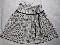 Free shipping brand women skirt white black dot knee-length pleated geometric  bow zipper fashion women's skirts 068