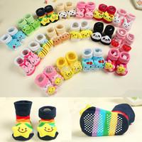 Baby Socks Newborn With Animal Baby Boy Outdoor Shoes Baby Girl Anti-slip Walking Children Warm Sock kids Gift 24 pieces/lot