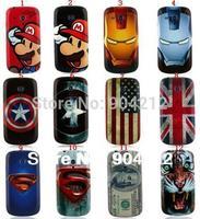 1PCS By Retail:Iron Man Super Man Captain America Housing Plastic Case for Samsung Galaxy S3 mini i8190