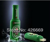2GB 4GB 8GB 16GB 32GB 64GB Mini Beer Bottle Shaped Style Memory Stick USB Flash Memory Drive