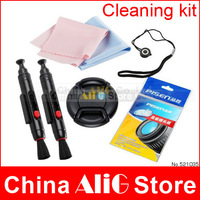 5 In 1 Camera Cleaning Kit Camera Lens Cleaning Pen/Cloth/Paper Lens Cap 49mm 52mm 55mm 58mm 62mm 67mm 72mm 77mm 82mm