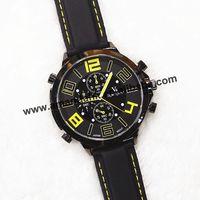 100pcs/lot,2015 New Fashion Big Rivet  Steel Case Huge Crown Men Sports Quartz Wristwatch Rubber Band Military Watches