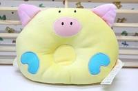 Cute Lovely Cartoon Pig Design Newborn Baby Sleeping Pillow Cartoon Pig Baby Pillow Head Positioner