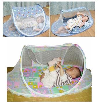 Hot selling  2014 New High Quality Baby Folding Bed Nets Crib Mosquito Net Rocker Nets-Blue Green Orange