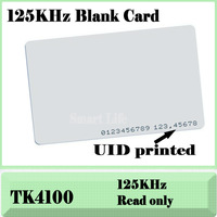 Free Shipping FEDEX, DHL, EM CARD 4100/4102 reaction ID card 125KHZ RFID Card fit for Access Control Time Attendance--1000pcs/lt