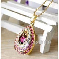 wholesale 2GB/4GB/8GB/16GB/32GB angel tears jewelry diamond necklace shape usb flash drive Free shipping+Drop shipping