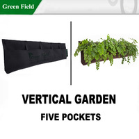 The Urban Garden-Vertical Flower Planter,Hanging planter,Herb,Vegetable Pots,Strawberry Planter Home Wall Planter Green Field