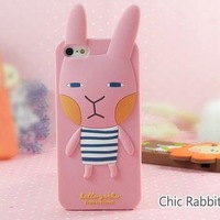 Free Shipping 100pcs/lot Rabbit Monkey Fox Lion Cat Owl Girl Lucy Silicone Romane Case for Apple Iphone 5 5S