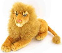 "Emulational Toy Lion Plush Stuffed Animal,Brown,14"",1PC"