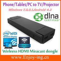 Wholesale Wifi HDMI Wireless display dongle  Miracast mirroring show Audio Video Photo Even Game from Phone to TV Free shipping