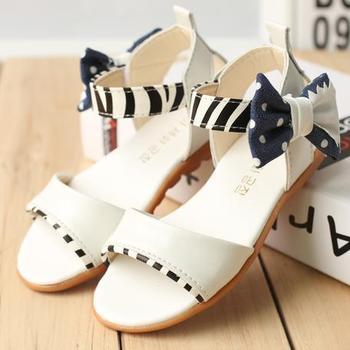 2014 child girls summer rommer flower petals gladiator girls  princess shoes sandals children sandals kids shoes bow