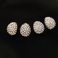 E001 2015 Fashion Jewelry Trendy Style Rhinestone Crystal Silver plated Stud Earrings For Women brincos High