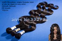 FREE SHIPPING 5A Grade 100% Virgin Human  Brazilian Hair Extension   Body Wave  40g/pc=1.4oz/pc