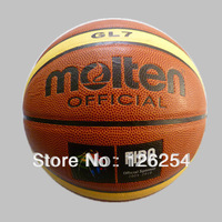 Free Shipping Size7 Molten GL7 Basketball Hight Quality PU Leather Basketball Ball With Free Gift Of ball pump+net bag+pins