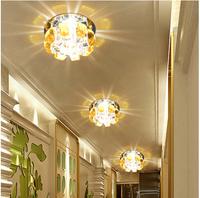 3w bedroom led Crystal ceiling lamps for home modern living room spotlights aisle lights chandelier lighting abajur lampshade