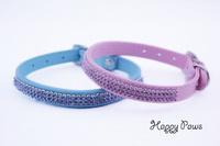 Fashion bling crystal rhinestone diamond pet dog cat collar Designer pink necklace Pet safe collar metal buckle Free Shipping
