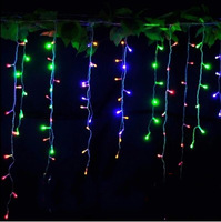 EU /UK/AU Plug 3M 96 LED Icicle Christmas Holiday Light Wedding Party garden Xmas Decoration 9.4ft LED Snowing curtain light