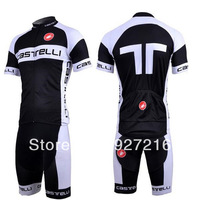 Castelli Short sleeve Cycling Jersey and shorts/Bike Jersey/Cycling Clothing for men,6 colors to choose