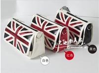 LZ brand  zipper american flag big capacity pencil case storage bag cosmetic bag stationery bags pen bags 8398 white