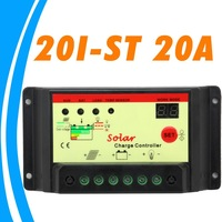 20A 12V 24V auto 20I Solar Charge Controller Regulator Light and Timer control for solar pv system lead-acid battery
