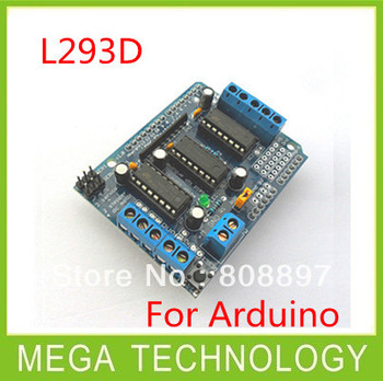 Free shipping  5pcs/lot  Motor Drive Shield L293D for Duemilanove Mega / UNO