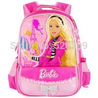 cartoon bag  elementary/primary  school bag  books backpack bag for girls Eiffel Tower shoulder bag grade 1-3