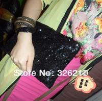 Women's fashion handbag paillette evening bag cosmetic bag Free shipping