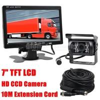 12V-24V 4pin Night Vision CCD Rear View Camera Kit Car Monitor System For Bus Houseboat Truck